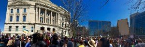 Photo by Matt B of Anti-RFRA Protest in Indiana on 3/28/15
