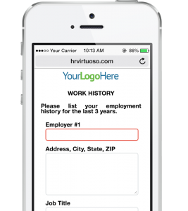 HR Virtuoso Recruiting Strategies Form on Phone - Mobile Work History